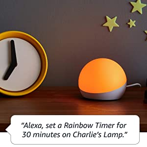 Introducing Echo Glow - multicolor smart lamp for kids - A Certified for Humans Device (Color: White)