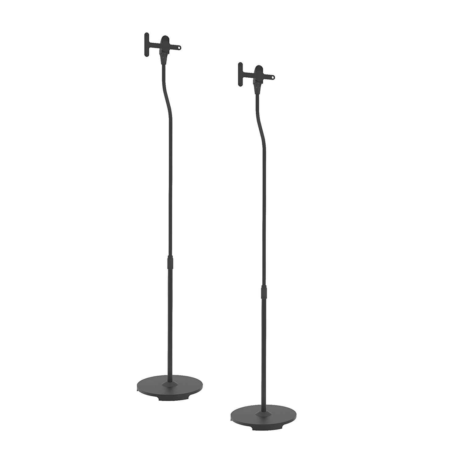 Pyle PSTNDSON16 Universal Speaker Stands, Standing Mount Holders, Adjustable Height
