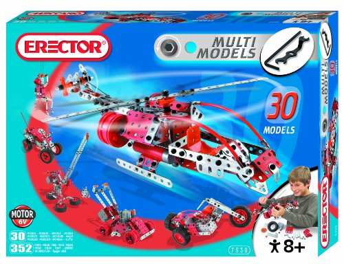 Erector Motorized Multi Model Set, 352 (Motorized Erector Set)