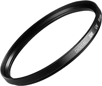 Neewer 55 MM Filtro UV de protección para lente + paño de limpieza ...