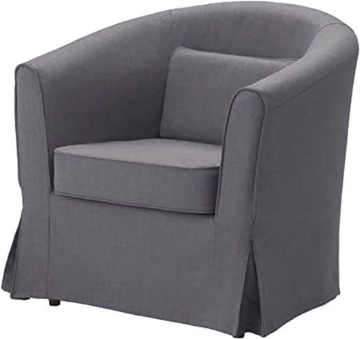 Amazon Com Easy Fit Cover Only Ektorp Tullsta Chair Dense Cotton Cover Replacement Only For Ikea Tullsta Armchair Sofa Slipcover Dark Gray Cotton Furniture Decor
