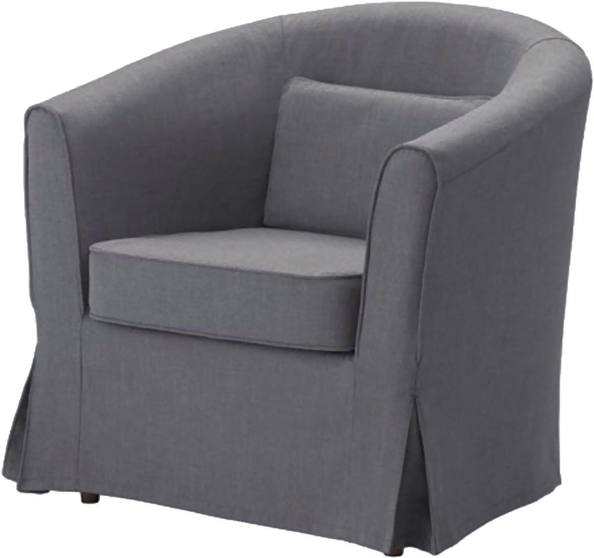 Easy Fit Der Ektorp Tullsta Stuhl-Abdeckung Ersatz ist nach Maß für IKEA Tullsta Cover, A Sessel Sofa Slipcover Replacement Dunkelgrau Cotton