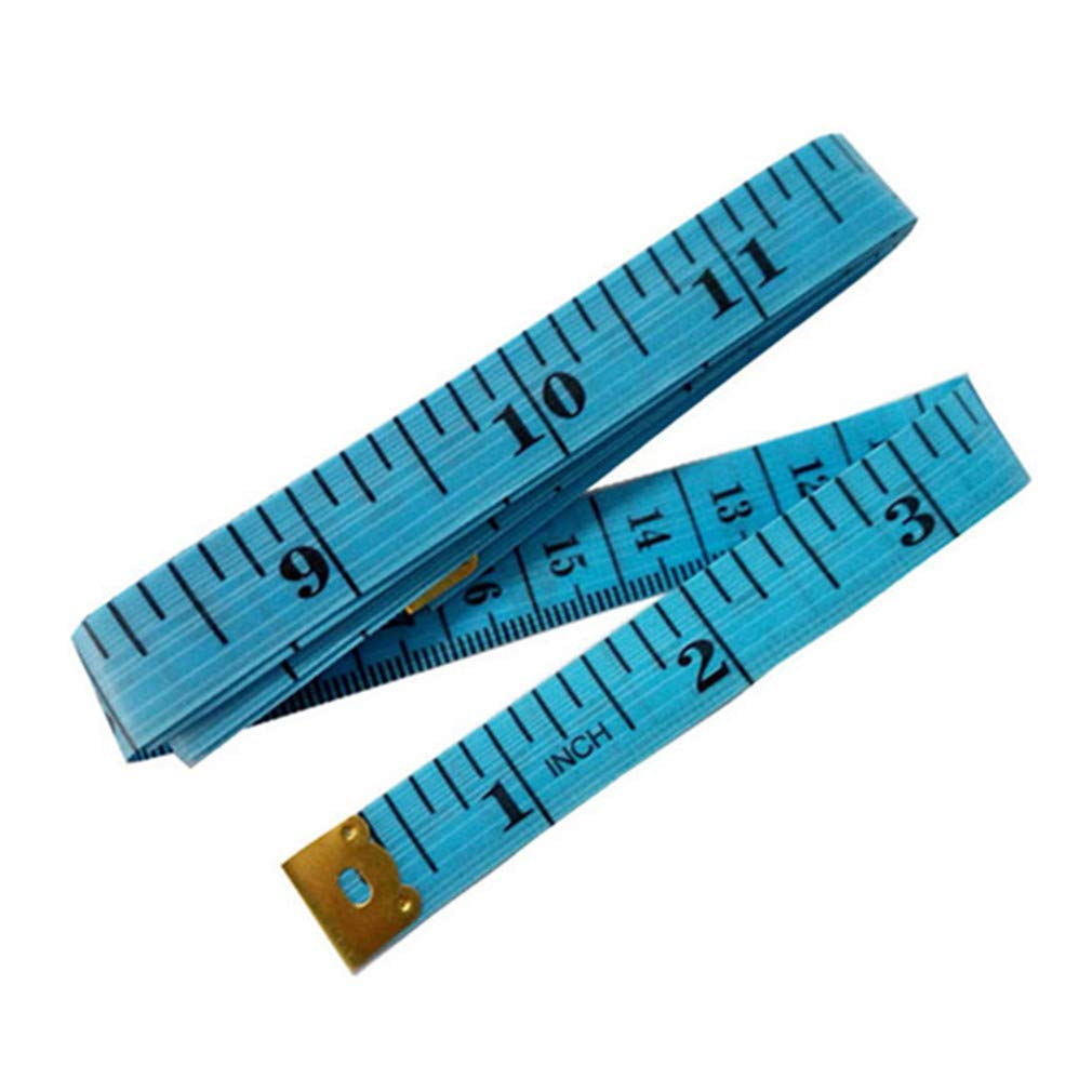 1 St/ück Blau Ma/ßband 60 Zoll 150cm Weich Schneider Lineal Doppelseitig K/örpermessung N/ähen Medizinisch Kunst Ma/ßband von SamGreatWorld