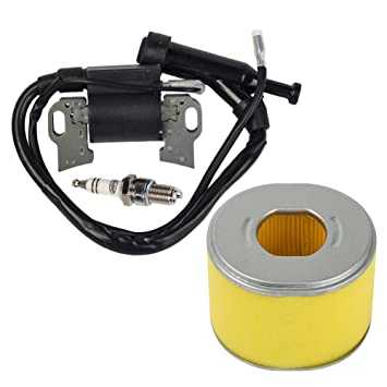 OuyFilters Paquete de filtro de aire con bobina de encendido Bujía de encendido para Honda GX240 GX270 8hp motor de césped Nuevo: Amazon.es: Jardín