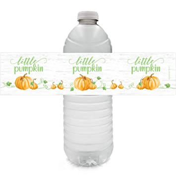 Amazon.com: Little Pumpkin - Etiquetas para botella de agua ...