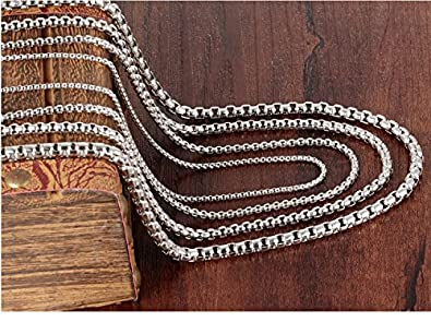 JSEA 2.5 3 4mm Stainless Steel Silver Popcorn Necklace Chains Various Lengths for Women Men