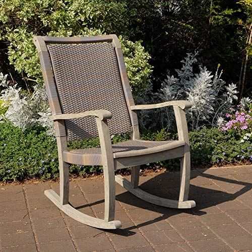 Cambridge-Casual Solid Wood Clayton Rocking Chair, Weathered Gray
