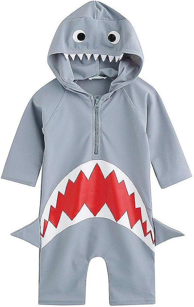 Kids One Piece Rash Guard Shirts 3D Shark/Alligator/Dinosaur Sunsuit Boy Swimsuits for 1 to 5 Years