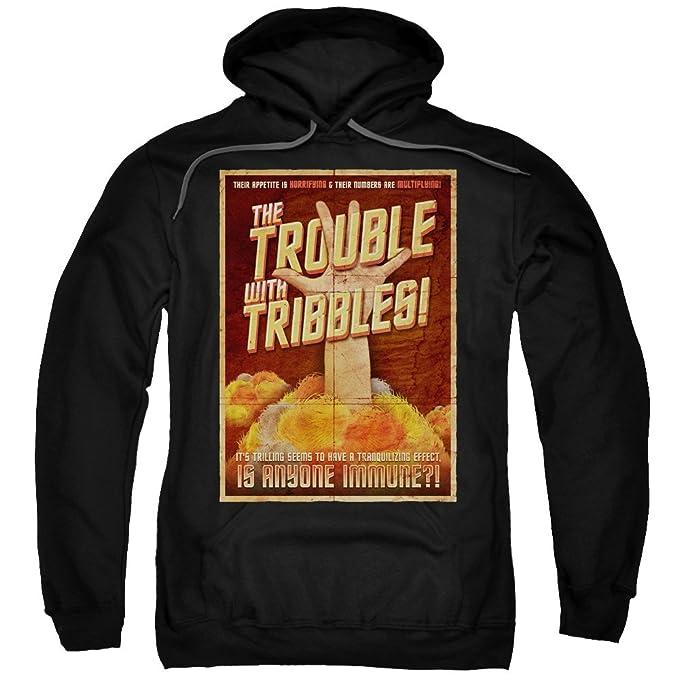 Star Trek Trouble Tribble Felpa con cappuccio da uomo nero X