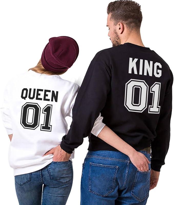 Conjunto de 2 Sudaderas: King & Queen