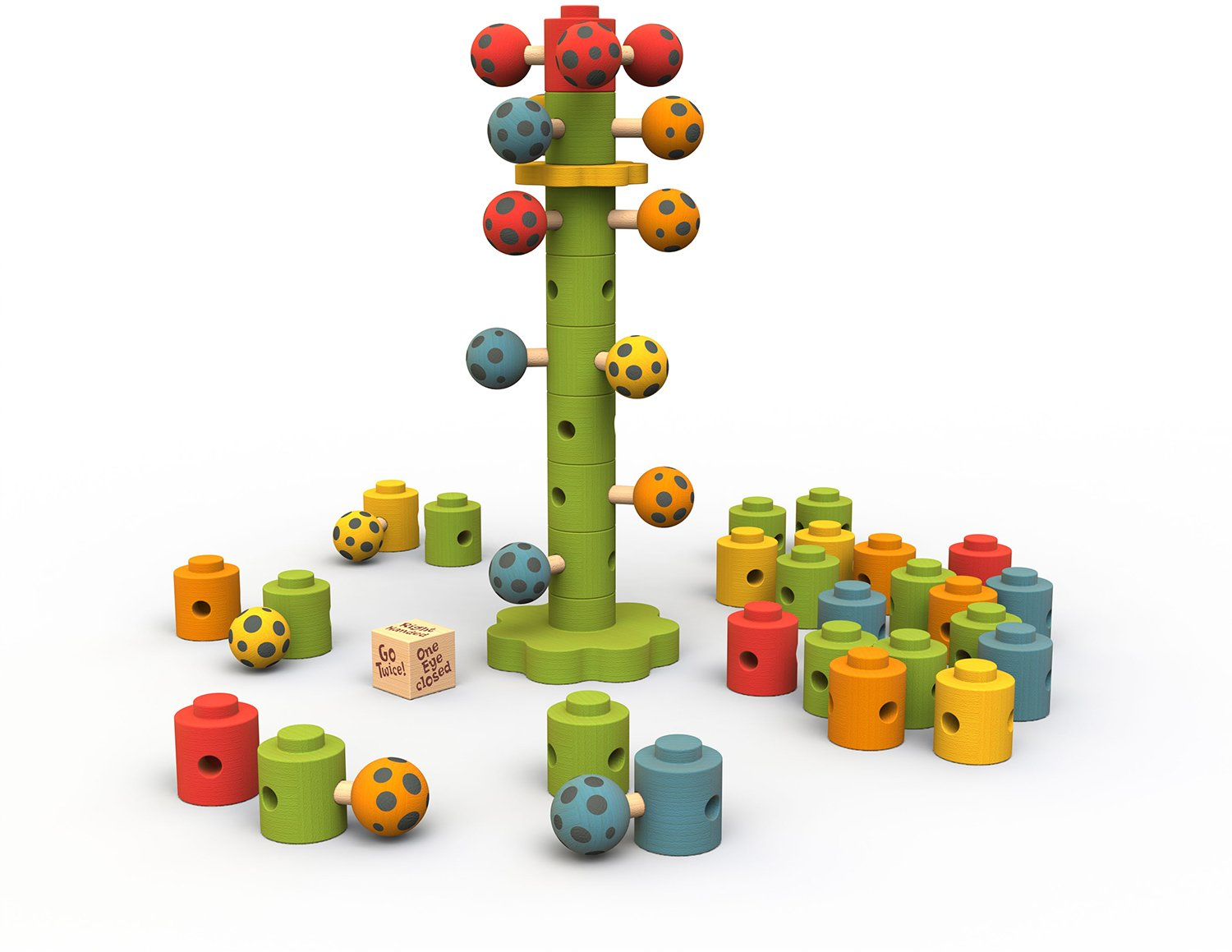 BeginAgain - Ladybug Flower Tower Game, Make Learning Fun and Help Spark Your Child's Imagination, Helps Promote Cooperative Play and Develop Motor Skills (For Kids 3 and Up)