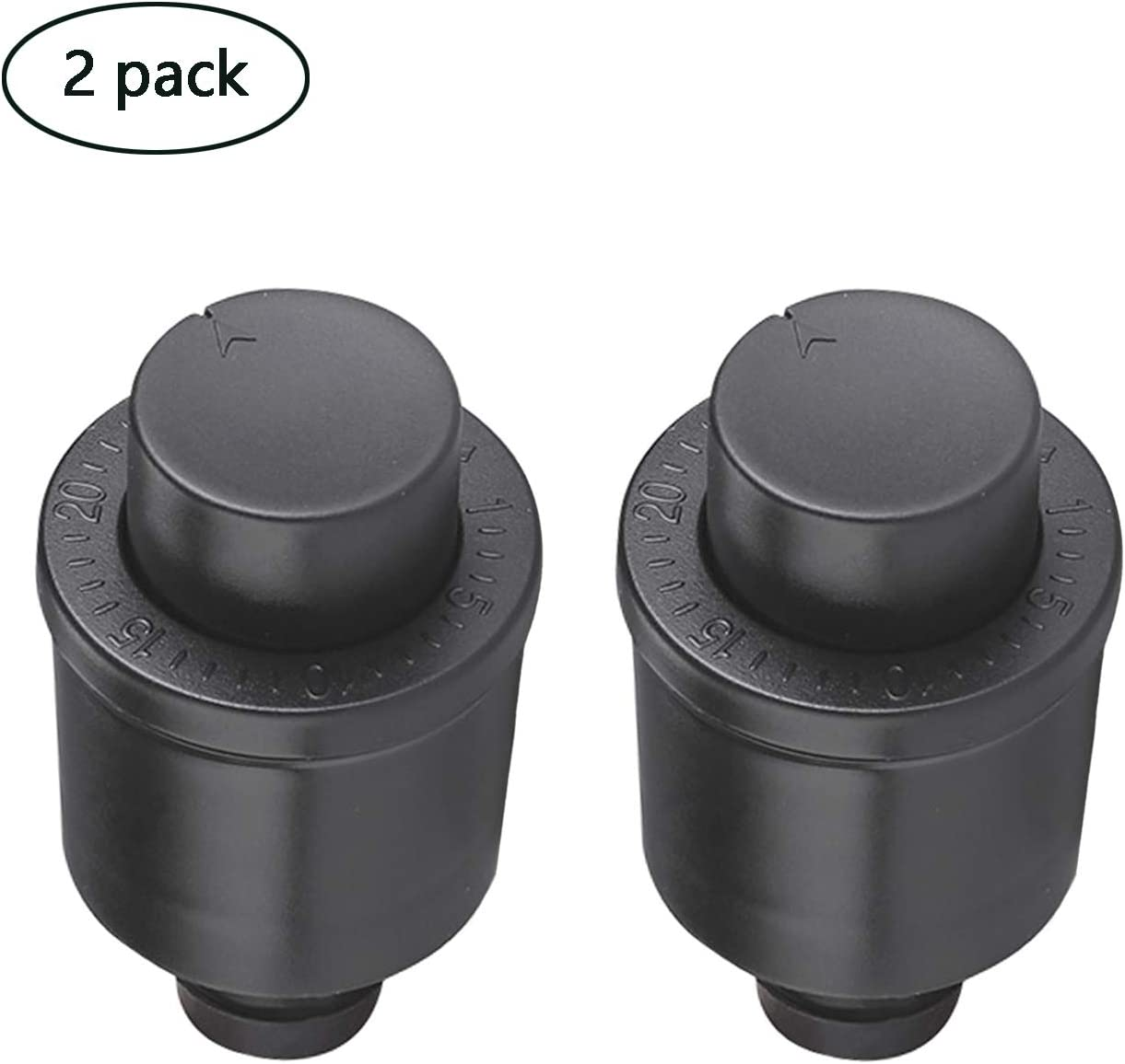 Wine Stoppers with Time Scale Record Saver,2 Pack Reusable Vacuum Bottle Stoppers Sealing plug,Keep Wine Fresh up to 10 days(2 pcs)