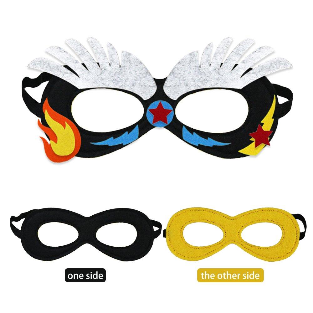 Amazon Com Irolewin Superhero Masks Craft Kits For Kids Diy