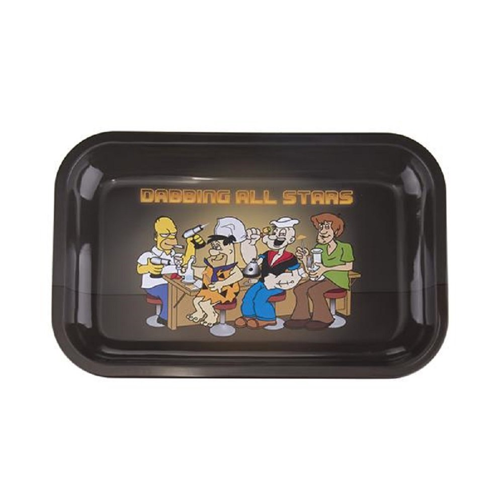Rolling Tray Metal Tobacco Joint Funny Trays for Weeds (Medium)