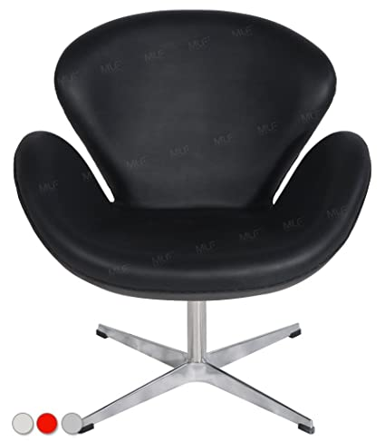 Incredible Mlf Arne Jacobsen Swan Lounge Chair In Black Italian Leather 3 Colors Ocoug Best Dining Table And Chair Ideas Images Ocougorg