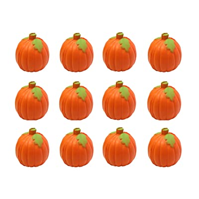 Curious Minds Busy Bags Bundle of 12 Pumpkin Party Favor Stress Balls, Pack of 12, Bulk Small Novelty Toy Prize Assortment for Birthday Halloween Party Gifts: Toys & Games