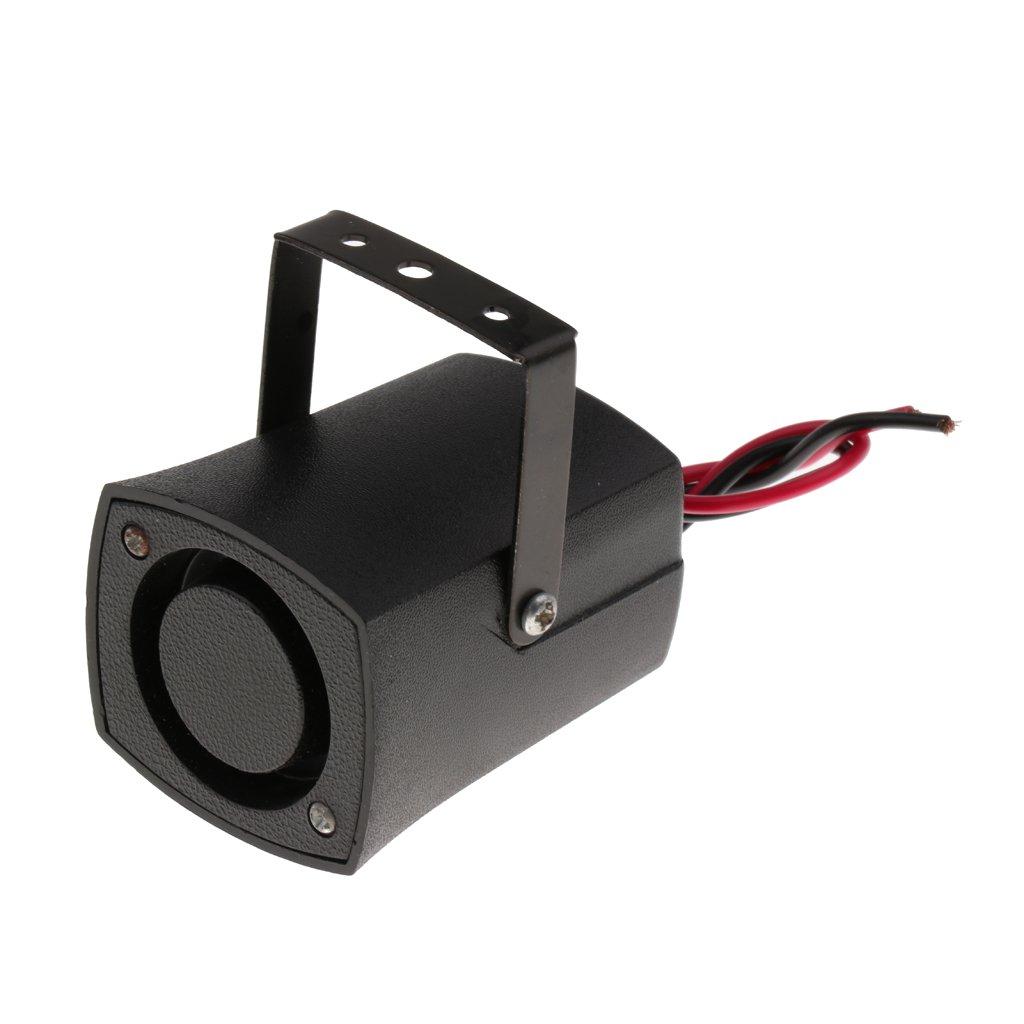 Sharplace Reversing Alarm Horn Speaker Beeper Buzzer Warning Black for Various Vehicles Trucks