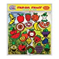 Fresh Fruit Gel Clings - Flexible Window Clings for Kids and Adults - Banana, Apple, Strawberry, Cherry and More Gel Decals - Reusable on Glass Surfaces, Smooth Walls, Flower Vases, Classrooms