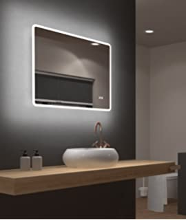 Alldrei Antibeschlag Badspiegel Mit Beleuchtung Ad026a