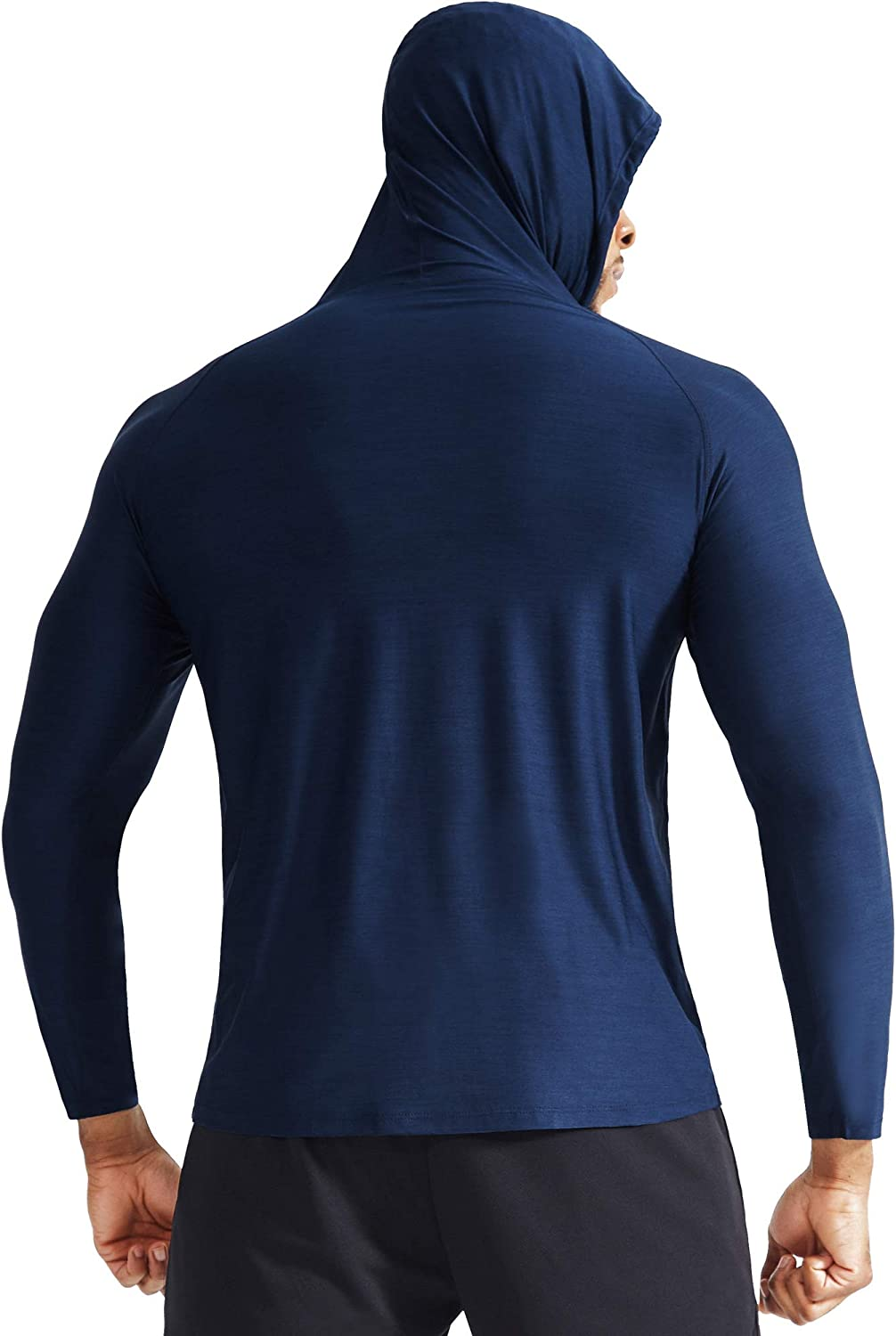 Neleus Mens Dry Fit Athletic Workout Running Shirts Long Sleeve