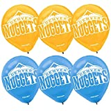 Amscan Sports & Tailgating NBA Printed Latex Balloons Childrens Party , Denver Nuggets, 72 Pieces
