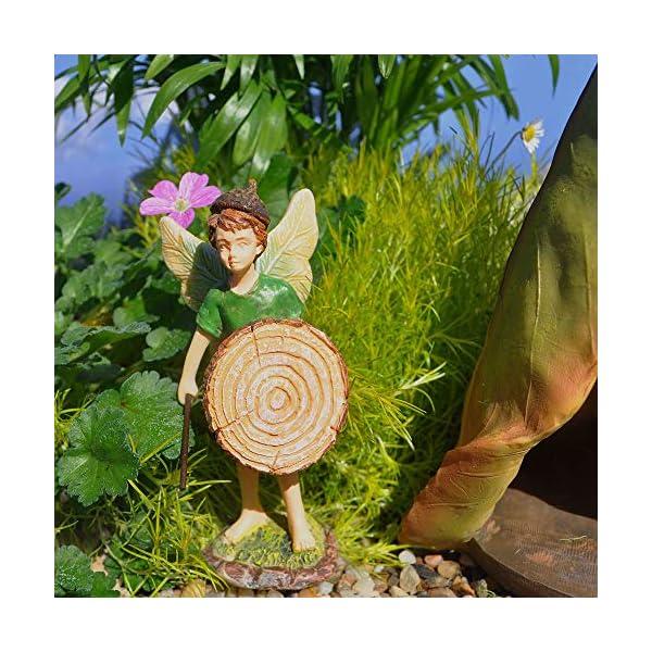 Woodland Knolls Mg218 Fairy Boy With Shield