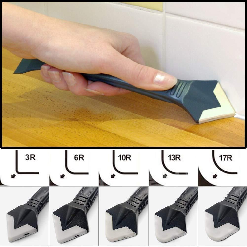 JayTop 3 en 1 professionnel /à carrelage en silicone Outil /à joints multi-fonctions /échangeables pour salle de bain//cuisine