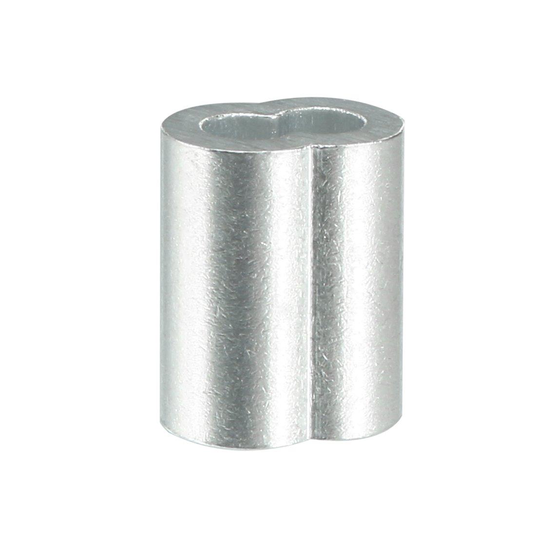 SOURCING MAP sourcingmap/® C/âble 1.2mm c/âble m/étallique Manchons /à sertir en aluminium clip boucle 100pcs