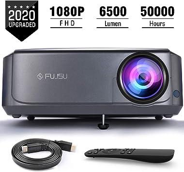 Proyector, FUJSU 6000 Lúmenes Proyector Full HD 1920x1080P ...
