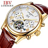 Swiss Brands Mens Automatic Mechanical Wrist Watches Gold Silver Stainless Steel Date Skeleton Watch