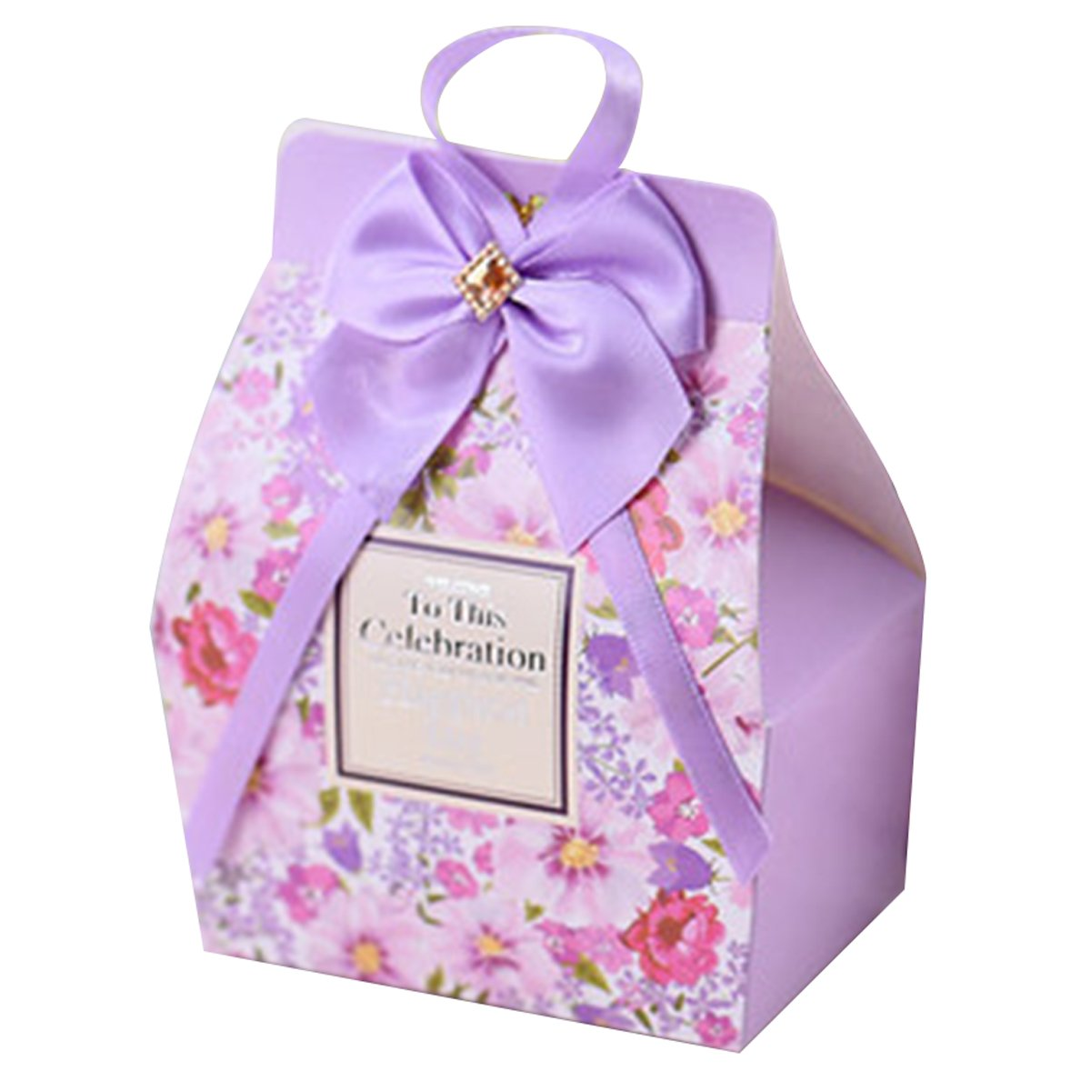 autulet Small Wedding Gift Boxes Present Box Baptism Favors Boy Baby Shower Decorations 20 Pieces (Candies or chocolates not included)