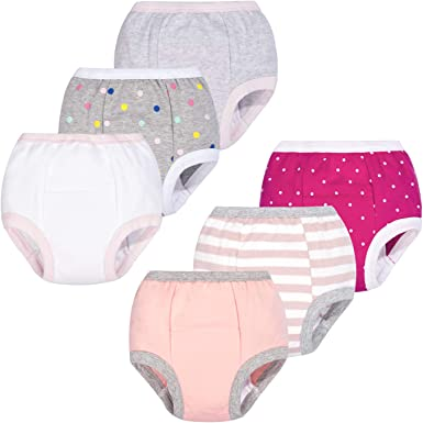 BIG ELEPHANT Unisex Baby Cotton Potty Training Pants Underwear Side Buttons Design 6 Packs Set