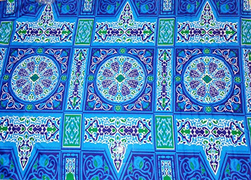 Traditional Egyptian Egypt Arabian Arabic Khayameya khyamya Khayamiya Tent Fabric Arabian Arabic Islamic Middle East Colorful Decor Decorative Decoration Ramadan Eid Fabric 214 (2 Yard = 182 cm)]()