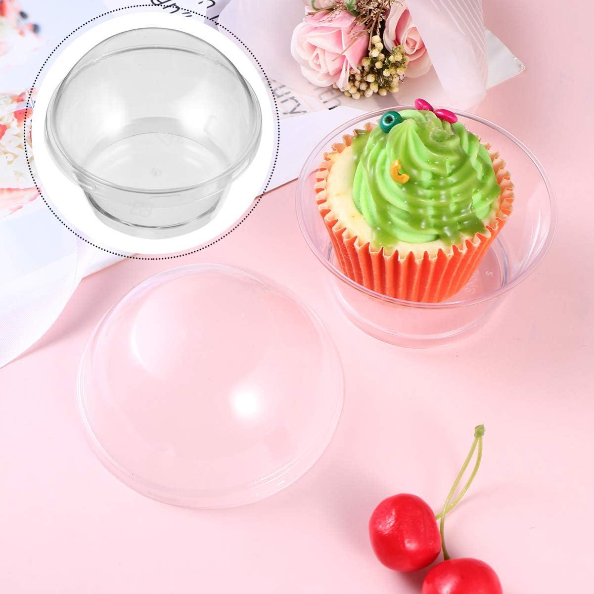 20 unidades Hemoton bodas yogurtera con tapa para llevar para caf/é fiestas cumplea/ños pud/ín Vasos desechables de pl/ástico transparente para postres transparente tartas