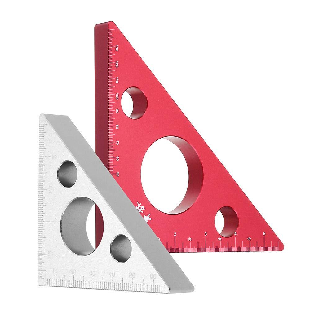 Righello triangolare da 90 gradi in lega di alluminio per lavorazione del legno Piccolo