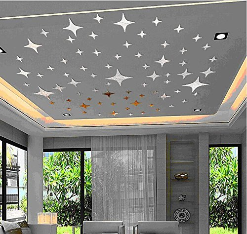 Wonderpark Wall Decoration Bling-bling Stars DIY Acrylic Removable Decorative Mirror Surface Crystal (Lowell 3 Light)