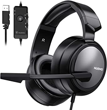 USB Stereo PC Gaming Headset Wired Headphone With Microphone Laptop for PS4//PS3