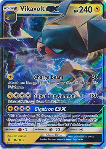 Vikavolt-GX - 45/145 - Ultra Rare - Sun & Moon: Guardians Rising
