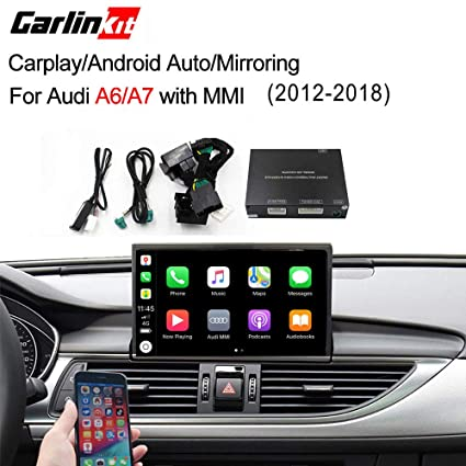 Carlinkit Car Airplay Android Auto Carplay Box Interface for Audi A6/A7  (2016-2018) Factory Screen Upgrade with Android Auto iOS12 AirPlay Screen
