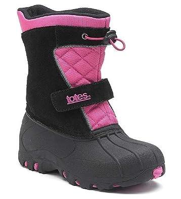 0feb7af9c8dc1 totes Jillian Pink/Black Winter Boots - Girls