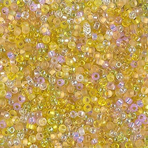 Spk Jewelry 1200 Pcs 11/0 Lemon Twist Mix Miyuki Round Glass Seed Beads 10 Grams for Pendant Bracelet DIY Jewelry Making