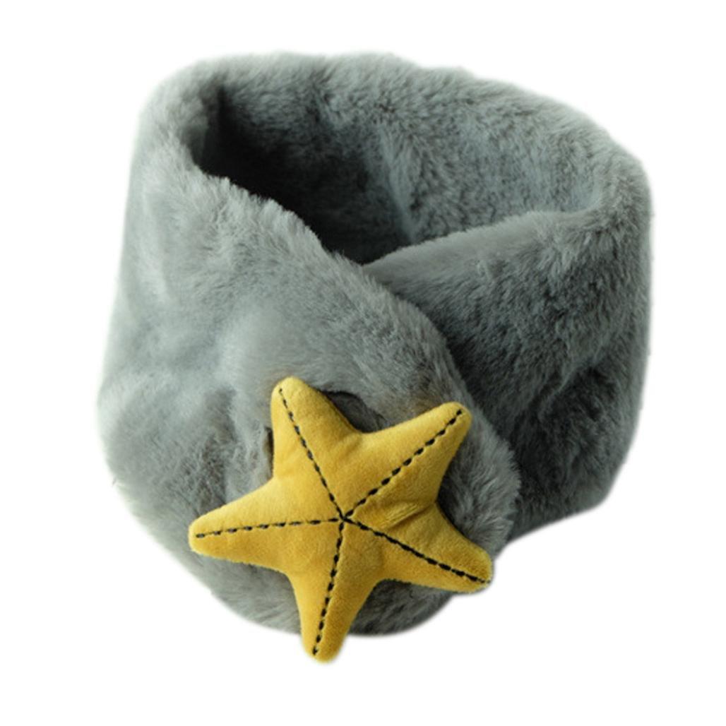 Molyveva Winter Baby Woolen Warm Scarves O Ring Starfish Shape Neck Scarf