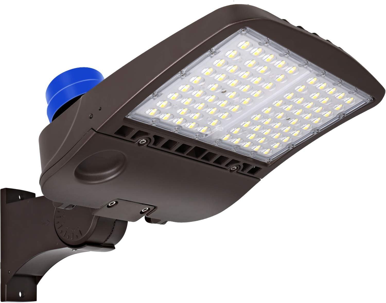 60W LED Shoebox Light Parking Lot Pole Commercial Building Warehouse Lighting T1