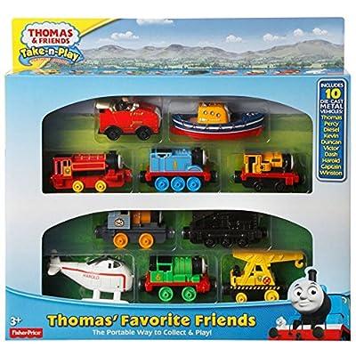 Thomas & Friends Take-n-Play Exclusive THOMAS FAVORITE FRIENDS 10-Die-cast Vehicle Gift Set