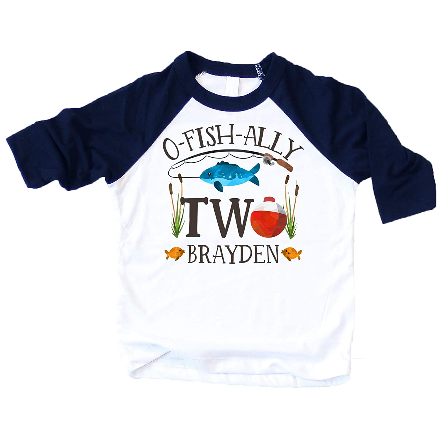Amazon Personalized O Fish Ally Two Boys 2nd Birthday Shirt Fishing Second Boy Outfit Clothing