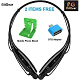 BitGear HBS-730 Neckband Bluetooth Wireless Sport Stereo Headset with Microphone for Android, Apple Devices