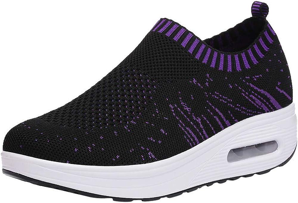 ALIKEEY La Mujer Casual Zapatos Deportivos con Suela Gruesa Malla Exterior Cojin De Aire Zapatos Zapatillas Ligeras