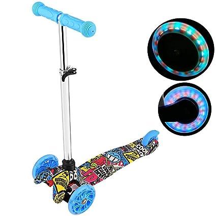 Amazon.com: Colorful Life - Patinete con ruedas LED 4U para ...