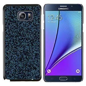 """Be-Star Único Patrón Plástico Duro Fundas Cover Cubre Hard Case Cover Para Samsung Galaxy Note5 / N920 ( Modelo azul y Negro Mosaic"""" )"""