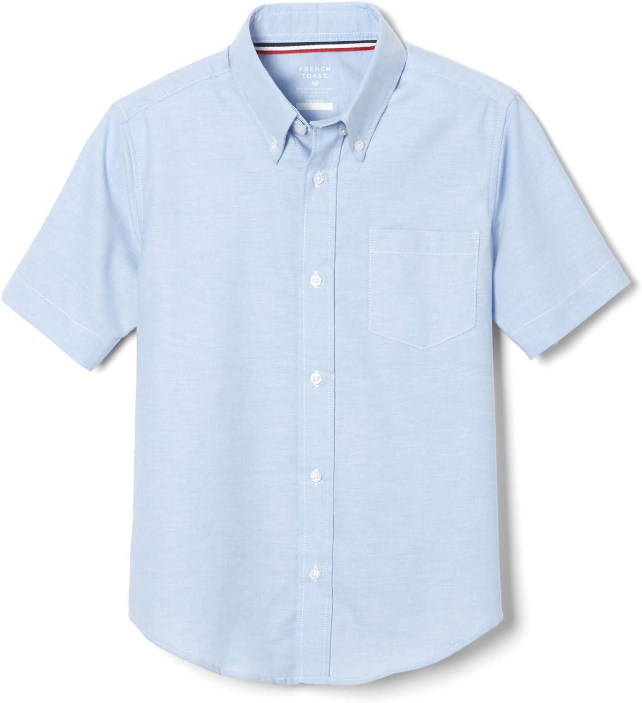 Standard /& Husky French Toast Boys Husky Short Sleeve Oxford Shirt